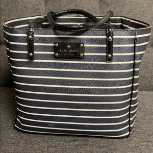 Kate Spade Purse/Handbag Navy & white Stripe Used